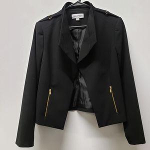 Calvin Klein open front black jacket size 14